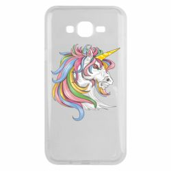 Чохол для Samsung J7 2015 Кінь з кольоровою гривою