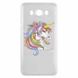 Чохол для Samsung J7 2016 Кінь з кольоровою гривою