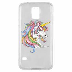 Чохол для Samsung S5 Кінь з кольоровою гривою