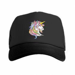 Кепка-тракер Кінь з кольоровою гривою