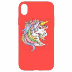 Чохол для iPhone XR Кінь з кольоровою гривою