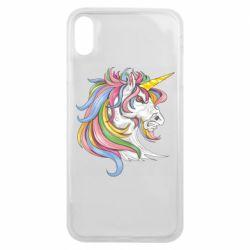 Чохол для iPhone Xs Max Кінь з кольоровою гривою