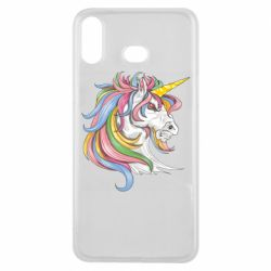 Чохол для Samsung A6s Кінь з кольоровою гривою