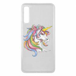 Чохол для Samsung A7 2018 Кінь з кольоровою гривою