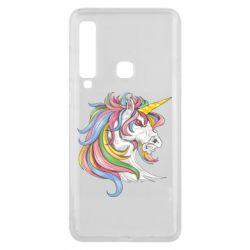 Чохол для Samsung A9 2018 Кінь з кольоровою гривою