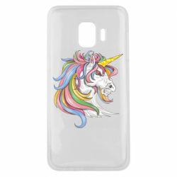 Чохол для Samsung J2 Core Кінь з кольоровою гривою