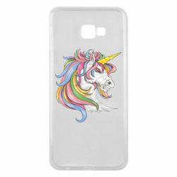 Чохол для Samsung J4 Plus 2018 Кінь з кольоровою гривою