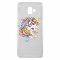 Чохол для Samsung J6 Plus 2018 Кінь з кольоровою гривою