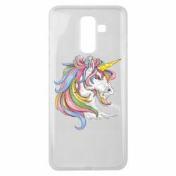Чохол для Samsung J8 2018 Кінь з кольоровою гривою