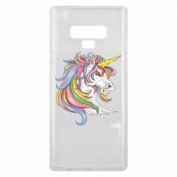 Чохол для Samsung Note 9 Кінь з кольоровою гривою