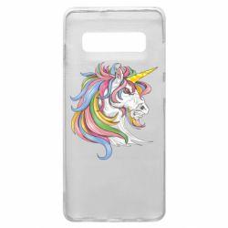 Чохол для Samsung S10+ Кінь з кольоровою гривою