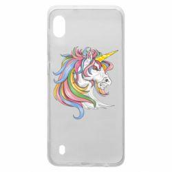 Чохол для Samsung A10 Кінь з кольоровою гривою