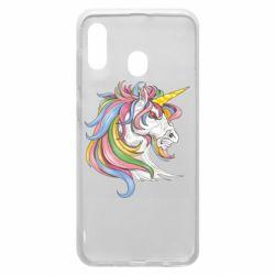 Чохол для Samsung A30 Кінь з кольоровою гривою