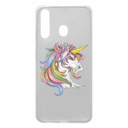 Чохол для Samsung A60 Кінь з кольоровою гривою