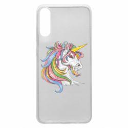 Чохол для Samsung A70 Кінь з кольоровою гривою