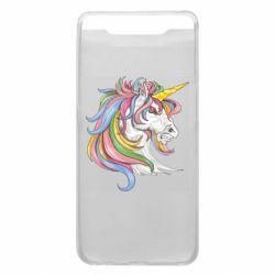Чохол для Samsung A80 Кінь з кольоровою гривою