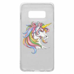 Чохол для Samsung S10e Кінь з кольоровою гривою