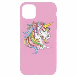 Чохол для iPhone 11 Pro Max Кінь з кольоровою гривою