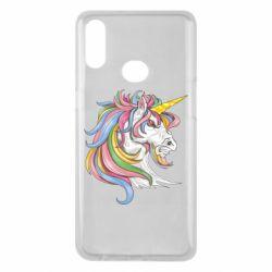 Чохол для Samsung A10s Кінь з кольоровою гривою
