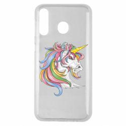 Чохол для Samsung M30 Кінь з кольоровою гривою