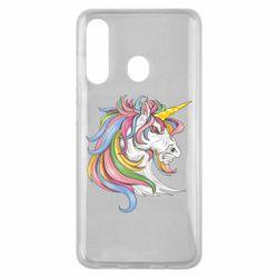 Чохол для Samsung M40 Кінь з кольоровою гривою