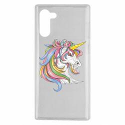 Чохол для Samsung Note 10 Кінь з кольоровою гривою