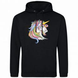Чоловіча толстовка Кінь з кольоровою гривою
