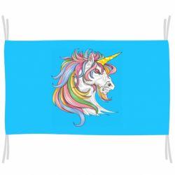 Прапор Кінь з кольоровою гривою