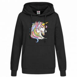 Толстовка жіноча Кінь з кольоровою гривою