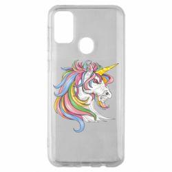 Чохол для Samsung M30s Кінь з кольоровою гривою