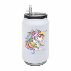 Термобанка 350ml Кінь з кольоровою гривою