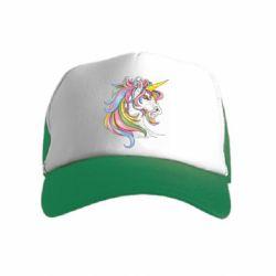 Дитяча кепка-тракер Кінь з кольоровою гривою