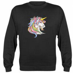 Реглан (світшот) Кінь з кольоровою гривою
