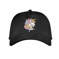 Дитяча кепка Кінь з кольоровою гривою