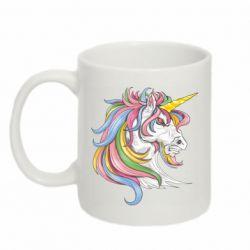 Кружка 320ml Кінь з кольоровою гривою