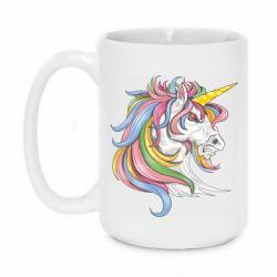 Кружка 420ml Кінь з кольоровою гривою