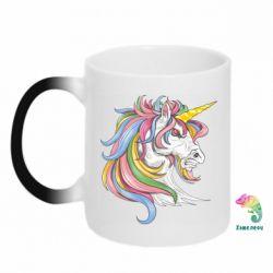 Кружка-хамелеон Кінь з кольоровою гривою