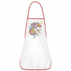 Фартух Кінь з кольоровою гривою
