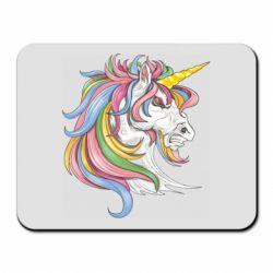 Килимок для миші Кінь з кольоровою гривою