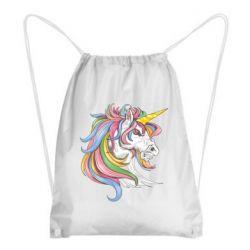 Рюкзак-мішок Кінь з кольоровою гривою