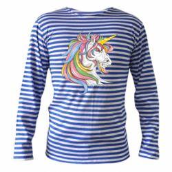 Тільник з довгим рукавом Кінь з кольоровою гривою