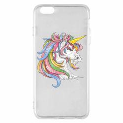 Чохол для iPhone 6 Plus/6S Plus Кінь з кольоровою гривою