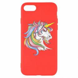 Чохол для iPhone 7 Кінь з кольоровою гривою
