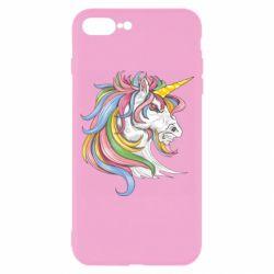 Чохол для iPhone 7 Plus Кінь з кольоровою гривою