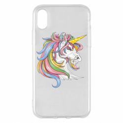 Чохол для iPhone X/Xs Кінь з кольоровою гривою