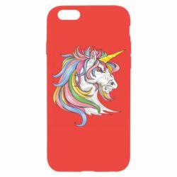 Чохол для iPhone 6/6S Кінь з кольоровою гривою