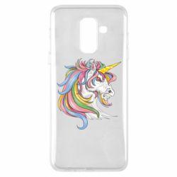 Чохол для Samsung A6+ 2018 Кінь з кольоровою гривою