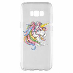 Чохол для Samsung S8+ Кінь з кольоровою гривою