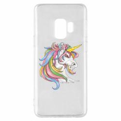 Чохол для Samsung S9 Кінь з кольоровою гривою