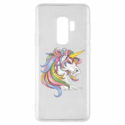 Чохол для Samsung S9+ Кінь з кольоровою гривою